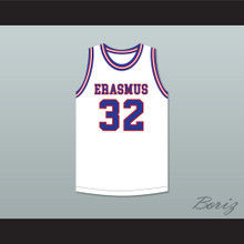 Billy Cunningham 32 Erasmus Hall High School White Basketball Jersey