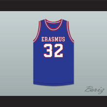 Billy Cunningham 32 Erasmus Hall High School Blue Basketball Jersey