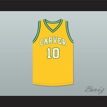 Tim Hardaway 10 Carver Military Academy Challengers Yellow Gold Basketball Jersey 1