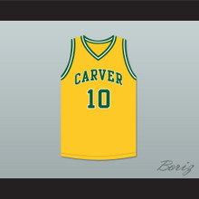 Tim Hardaway 10 Carver Military Academy Challengers Yellow Gold Basketball Jersey 2
