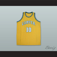 Tim Hardaway 10 Carver Military Academy Challengers Yellow Gold Basketball Jersey 3