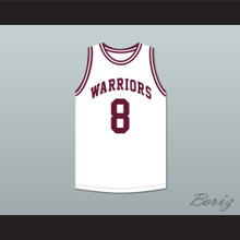 Walt Bellamy 8 J.T. Barber High School Warriors White Basketball Jersey