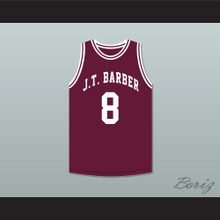 Walt Bellamy 8 J.T. Barber High School Warriors Maroon Basketball Jersey