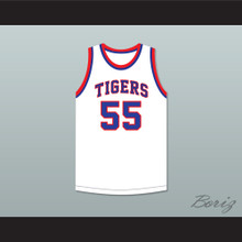 Bernard King 55 Fort Hamilton High School Tigers White Basketball Jersey 1
