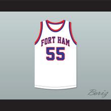 Bernard King 55 Fort Hamilton High School Tigers White Basketball Jersey 2