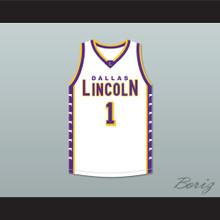 Chris Bosh 1 Lincoln High School Dallas Tigers White Basketball Jersey 2