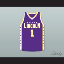Chris Bosh 1 Lincoln High School Dallas Tigers Purple Basketball Jersey 1