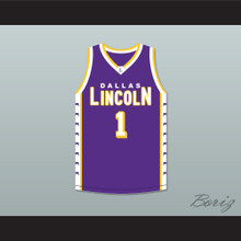 Chris Bosh 1 Lincoln High School Dallas Tigers Purple Basketball Jersey 2