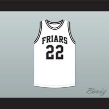 Dave DeBusschere 22 Austin Catholic Preparatory School Friars White Basketball Jersey