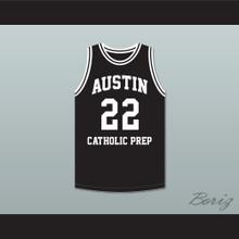 Dave DeBusschere 22 Austin Catholic Preparatory School Friars Black Basketball Jersey