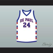 Mark Aguirre 24 DePaul University White Basketball Jersey
