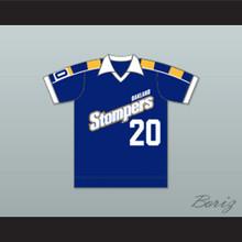 Oakland Stompers Football Soccer Shirt Jersey Blue