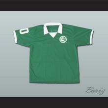 Brazilian Footballer Legend Pele Soccer Jersey Green