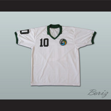 Brazilian Footballer Legend Pele Soccer Jersey White