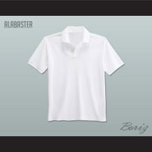 Men's Solid Color Alabaster Polo Shirt