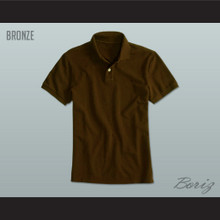 Men's Solid Color Bronze Polo Shirt