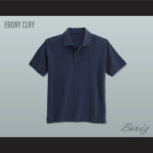 Men's Solid Color Ebony Clay Polo Shirt