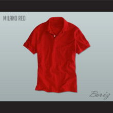 Men's Solid Color Milano Red Polo Shirt