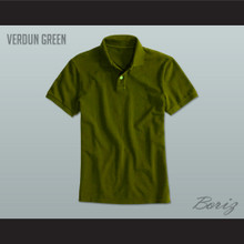 Men's Solid Color Verdun Green Polo Shirt
