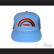 Michael Jackson Hawaii Rainbow Mesh Trucker Hat Snap Fit Adjustable New