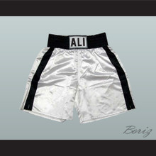 Muhammad Ali Boxing Shorts White