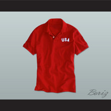 Red USA Polo Shirt