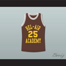 The Fresh Prince of Bel-Air Alfonso Ribeiro Carlton Banks Bel-Air Academy Brown Basketball Jersey