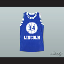 Jesus Shuttlesworth 34 Blue Lincoln High School Basketball Jersey He Got Game