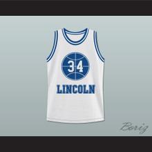 Jesus Shuttlesworth 34 White Lincoln High School Basketball Jersey He Got Game