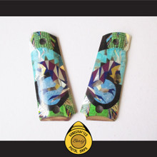 Boriz Handcrafted Pistol Grips 1911 Full Frame & Commander Elaborate Abstract Inlay Stone Design