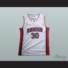 Stephen Curry 30 Davidson Wildcats White Basketball Jersey