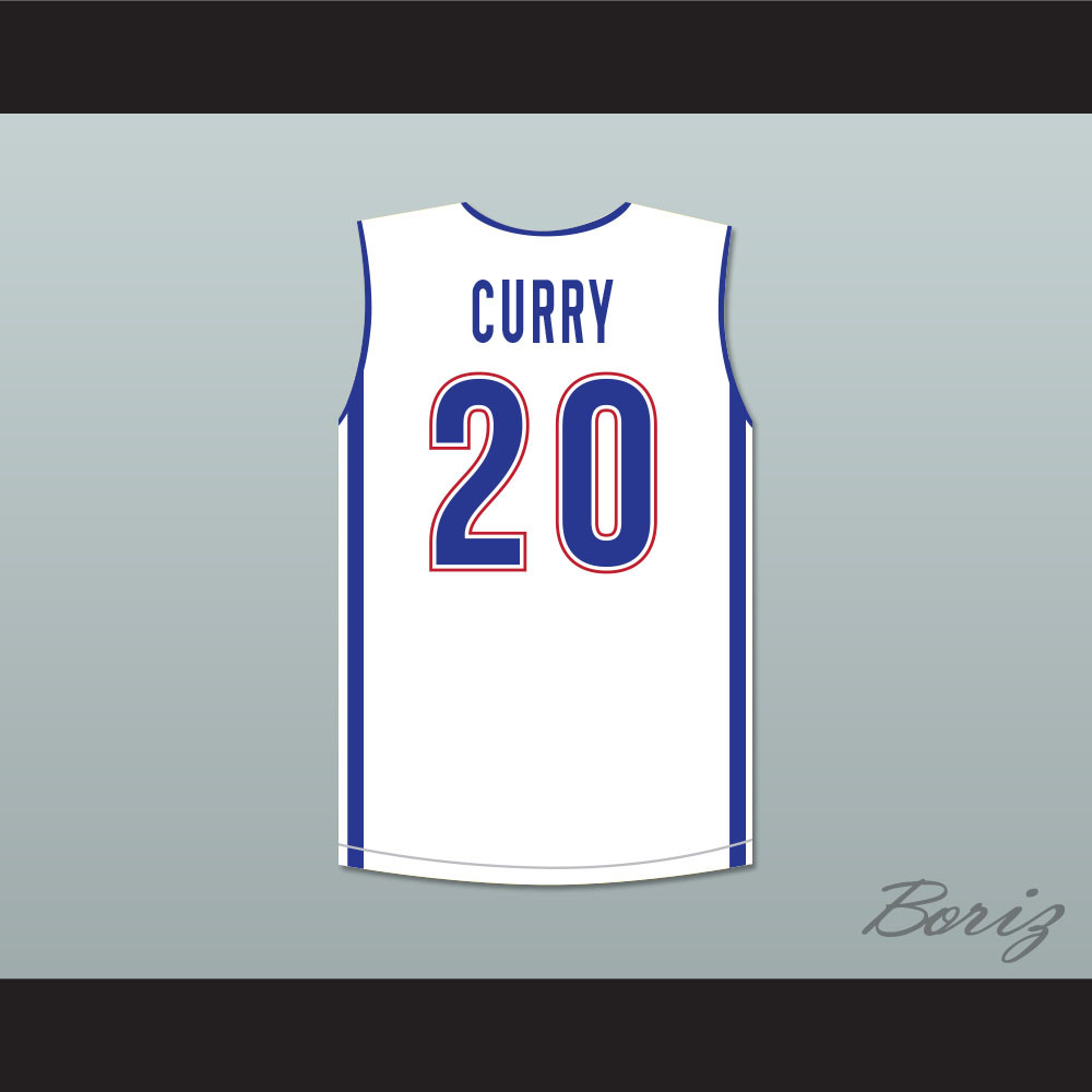 7f2deb9f3c2f Stephen Curry 20 Charlotte Christian High School Knights Basketball Jersey.  Price   45.99. Image 1. Larger   More Photos