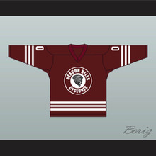 Derek Hale 00 Beacon Hills Cyclones Hockey Jersey Teen Wolf TV Series Maroon