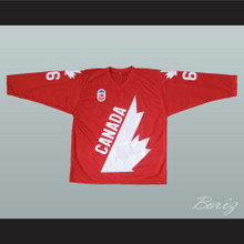 Mario Lemieux 66 Canada Cup Hockey Jersey Red