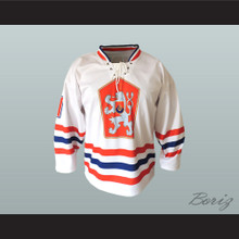 Czechoslovakia National Team Hockey Jersey White