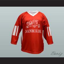 Denmark National Team Jesper Damgaard Hockey Jersey Red
