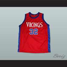 Magic Johnson 32 Lansing Everett High School Vikings Basketball Jersey Red