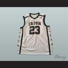 Lebron James 23 Fighting Irish High School Basketball Jersey White