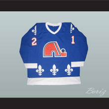 Peter Forsberg WHA Quebec Nordiques Hockey Jersey