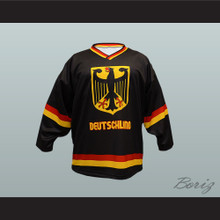 Germany National Team Hockey Jersey Black
