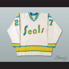 Gilles Meloche Golden Seals Hockey Jersey