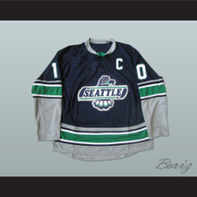WHL Legend Glen Goodall 10 Seattle T-Birds Hockey Jersey