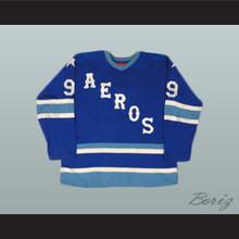 Gordie Howe 9 Aeros Hockey Jersey