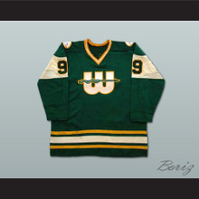 Gordie Howe 9 WHA New England Whalers Hockey Jersey