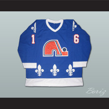 Michel Goulet 16 Quebec Nordiques Hockey Jersey