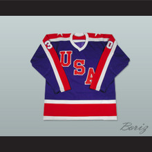 Jim Craig 30 Team USA Miracle On Ice Hockey Jersey