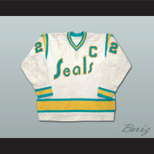 Joey Johnston California Golden Seals Hockey Jersey