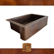 Copper Valley Farmhouse Sink Rivets on Apron Kitchen Sink