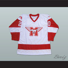 Keanu Reeves Heaver 20 Hamilton Mustangs Hockey Jersey Youngblood Movie