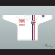 Steve McQueen Michael Delaney Le Mans Inspired Hockey Jersey White NN